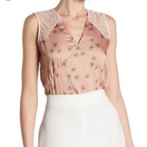 NWT All saints Prism Rosalie Blush Pink Floral Top